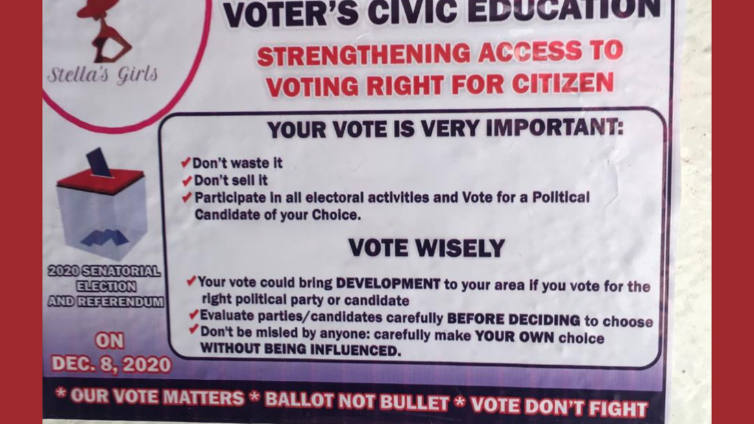 Liberian Voter's Civic Education Poster